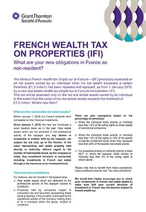 French wealth tax on Properties (IFI)