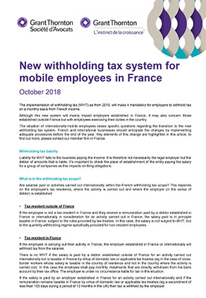 New withholding tax system for mobile employees