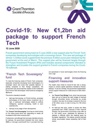 Covid-19: New €1,2bn aid package to support French Tech