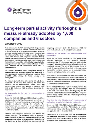 Long term partial activity (furlough): a measure already adopted by 1,600 companies and 6 sectors